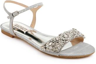 Badgley Mischka Carmella Crystal Embellished Sandal