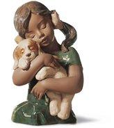 Lladro Gabriela Girl With Puppy Figurine