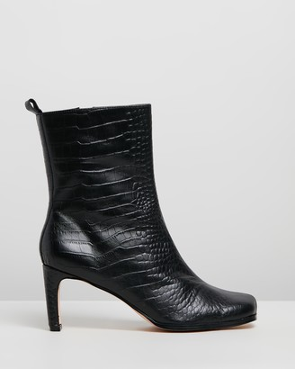 Atmos & Here Jeanne Leather Ankle Boots