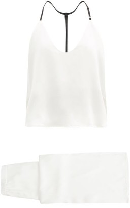 Lunya Contrasting-strap Silk Pyjamas - White