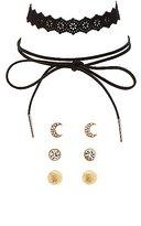 Charlotte Russe Faux Suede Chokers & Stud Earrings Set