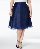 MSK Plus Size Chiffon A-Line Skirt