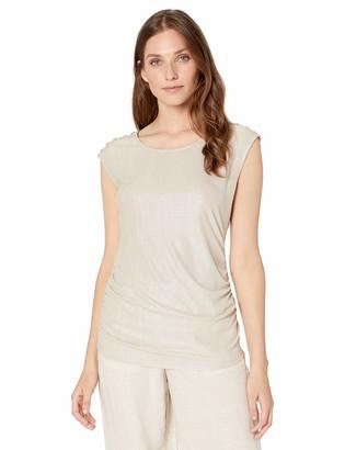 Calvin Klein Women's Sleeveless Metallic Top with Buttons