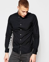Izzue Shirt With Printed Sleeves In Regular Fit