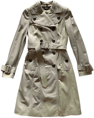 Burberry Grey Leather Trench coats