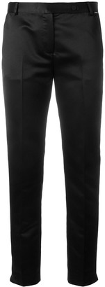 Styland High-Rise Tailored Satin Trousers