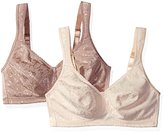 Playtex Women's 18 Hour Stylish Support Full Coverage Bra 2-Pack Bundle (4608)