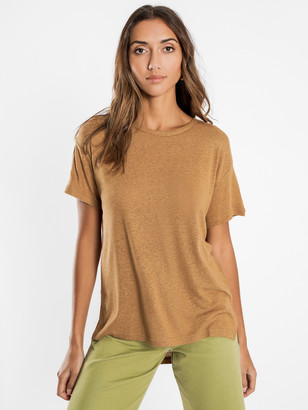 Nude Lucy Atwood Slouchy T-Shirt in Tan