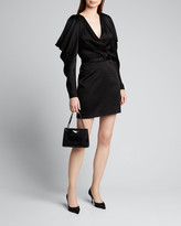 Jonathan Simkhai Open-Sleeve Woven Belted Mini Dress