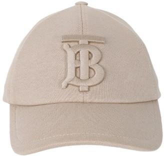 Burberry Cotton Tan Logo Baseball Cap