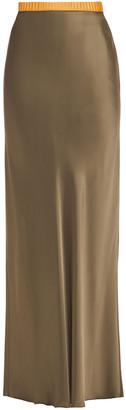 Helmut Lang Satin Maxi Skirt