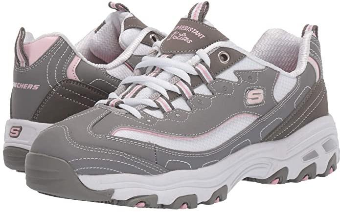Skechers D'Lites SR Health Care Pro - Relaxed Fit (Gray) Women's Shoes -  ShopStyle