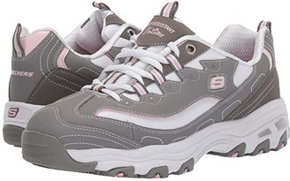 Skechers D'Lites SR Health Care Pro - Relaxed Fit (Gray) Women's Shoes