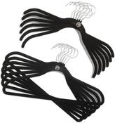 JOY 65-piece Huggable Hangers Essential Closet Organization Set - Chrome