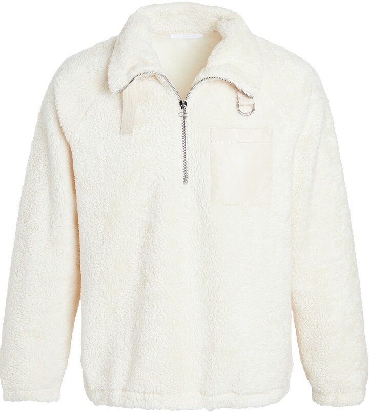 Thumbnail for your product : Helmut Lang Shaggy Fleece Quarter Zip Sweatshirt