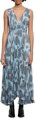Sandro Breathe Paisley-Print Maxi Dress