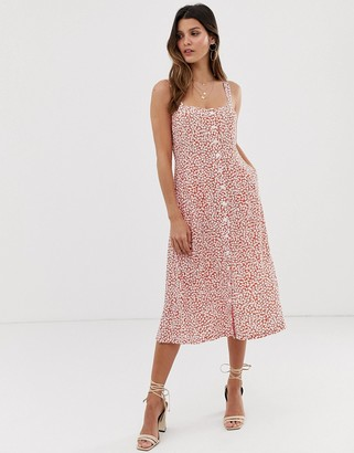 Capulet Sunny midi dress with button front