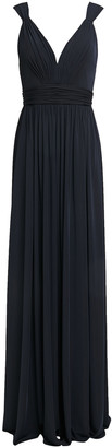 Catherine Deane Caterina Tulle-trimmed Gathered Crepe-jersey Gown