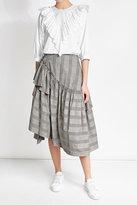 Simone Rocha Midi Skirt with Cotton and Linen