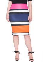 ELOQUII Plus Size Colorblock Pencil Skirt