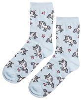 Unicorn and star ankle socks