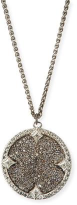 Armenta New World Diamond Medium Disc Necklace