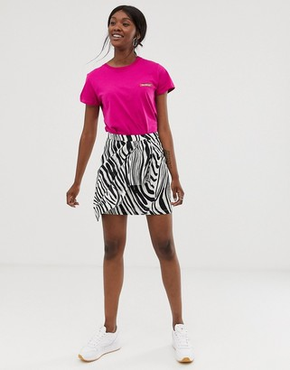 Gestuz Siwra abstract zebra stripe wrap skirt