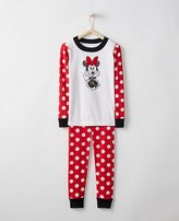 Disney Minnie Mouse Long John Pajamas In Organic Cotton