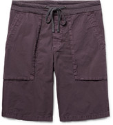 James Perse Slim-Fit Stretch-Cotton Poplin Cargo Shorts