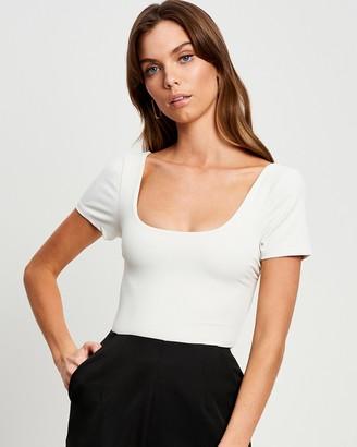BWLDR - Women's White Bodysuits - Amalfi Bodysuit - Size 6 at The Iconic