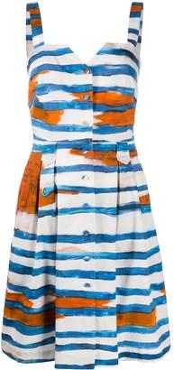 Moschino Cady Blue Stripe print dress