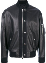 Diesel Black Gold bomber jacket - men - Leather/Acrylic/Spandex/Elastane/Wool - 46