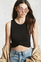 Forever 21 FOREVER 21+ Ribbed Cropped Tank Top