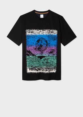 Paul Smith Men's Black Oversized 'Chile' Print T-Shirt