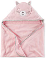Carter's Hooded Cat Cotton Towel, Baby Girls