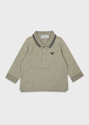 Emporio Armani Long-Sleeved Pique Polo Shirt