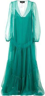 Rochas Radio sheer silk gown