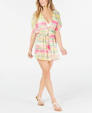 Miken Juniors' Tie-Dyed Kimono Cover-Up, Created for Macy's Women's Swimsuit