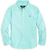 Vineyard Vines Boys' Island Gingham Button Down Shirt