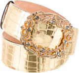 Roberto Cavalli Metallic Jewel-Embellished Belt