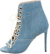 Barbara Bui Denim Ankle Boots
