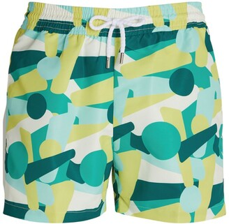 Frescobol Carioca Yellow Shape Swim Shorts