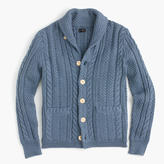 Cotton Cable Cardigan Sweater