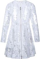 Moncler Gamme Rouge clear PU floral lace coat - women - Cotton/Polyurethane - XS