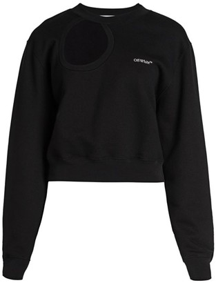Off-White Meteor Cropped Crewneck