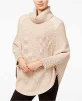 Maison Jules Faux-Suede-Detail Poncho Sweater, Only at Macy's