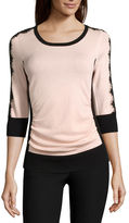 BY AND BY by&by 3/4-Sleeve Colorblock Sweater - Juniors
