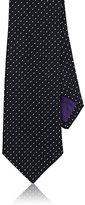 Ralph Lauren Purple Label Men's Pin-Dot-Weave Silk Necktie-NAVY