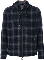 Lanvin checked hooded jacket