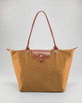 Longchamp Le Pliage Monogrammed Large Shoulder Tote Bag, Camel